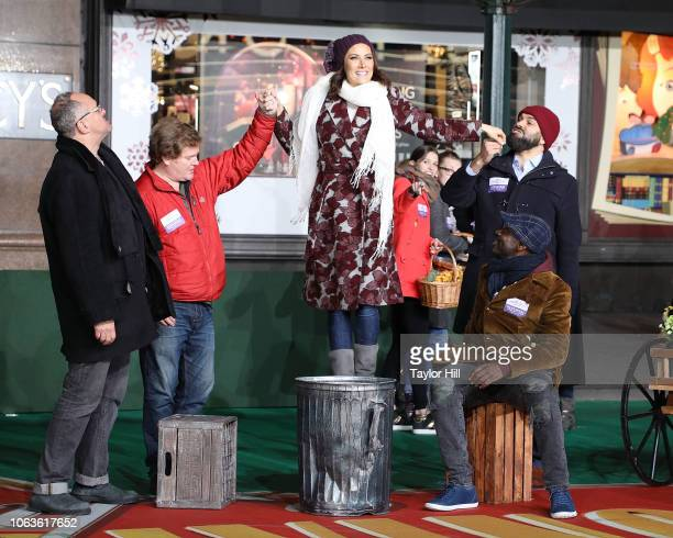 Laura Benanti attends Day 1 of 2018 Macy's Thanksgiving Day Parade Rehearsals at Macy's Herald Square on November 19 2018 in New York City