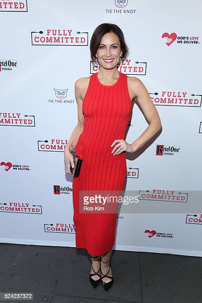 Laura Benanti attends the opening night of Fully Committed at Lyceum Theatre on April 25 2016 in New York City