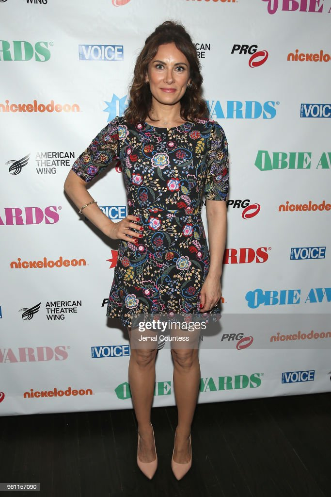 Laura Benanti poses backstage the The 63rd Annual Obie Awards at Terminal 5 on May 21, 2018 in New York City.