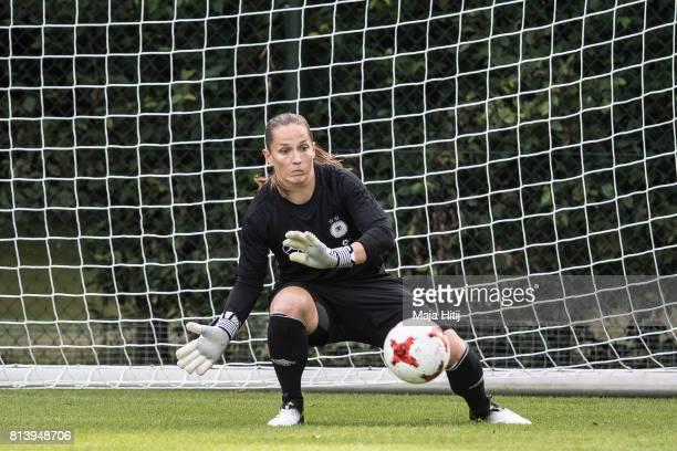 'SHERTOGENBOSCH NETHERLANDS JULY 13 Laura Benkarth during a Germany Women's Training on July 13 2017 in 'sHertogenbosch Netherlands