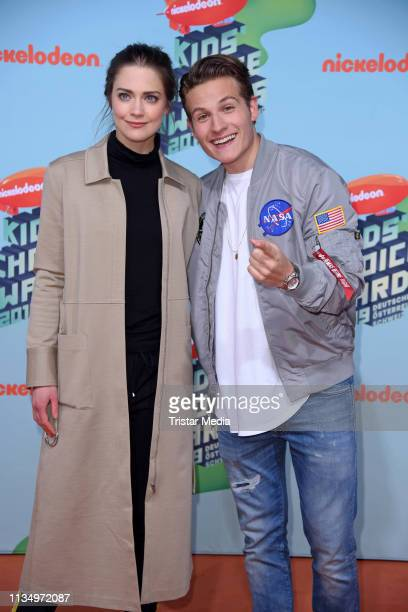 Laura Berlin and Moritz Baeckerling attend the Nickelodeon Kids Choice Awards on April 4 2019 in Rust Germany
