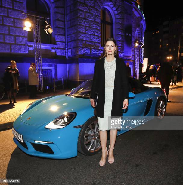 Laura Berlin attends the Porsche at Blue Hour Party hosted by ARD during the 68th Berlinale International Film Festival Berlin at Museum fuer...