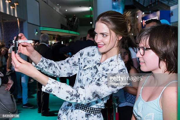 Laura Berlin attends the 'Smaragdgruen' German Premiere on June 28, 2016 in Cologne, Germany.