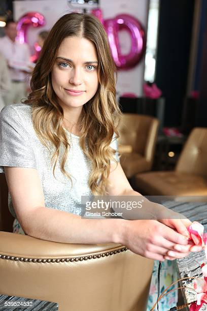 Laura Berlin during the ghd and DKMS Live Charity Event on June 8, 2016 in Munich, Germany.