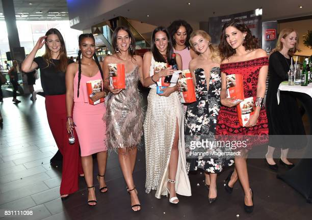 Laura Berlin Larimar Lopez Arcos Denise Balaz Desiree Balaz Jane Chirwa Jeanne Goursaud and Jasmin Lord during 'Bullyparade Der Film' premiere at...