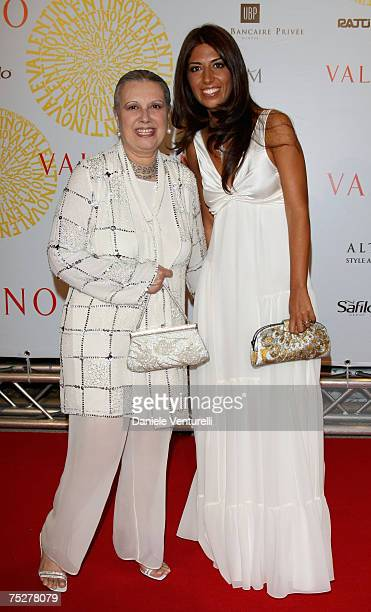 Laura Biagiotti and Lavinia Biagiotti arrive for the 'Valentino 45th Anniversary Celebration' Gala held at the Villa Borghese in the Parco dei Daini...