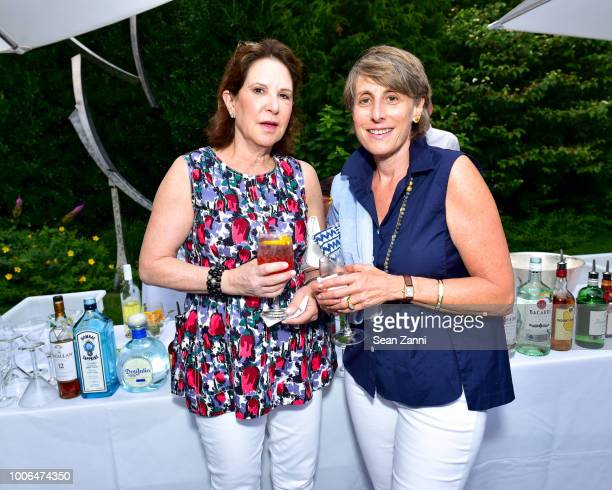 Laura Blankfein and Tamara Igel attend the 2018 NYSCF Summer Cocktail Reception at a Private Residence on July 27 2018 in Sagaponack New York