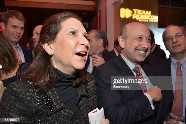 Laura Blankfein left and Lloyd C Blankfein chief executive officer of Goldman Sachs Group Inc attend a fundraiser for Team Rubicon at Hudson Terrace...