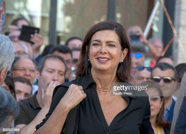 """Laura Boldrini, the president of the Chamber of Deputies at the baptism of """"Together"""", the new project of aggregating the left alternative to the..."""