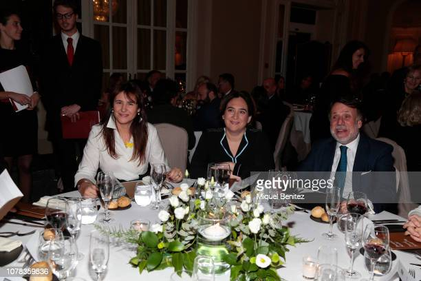 Laura Borras Barcelona's Major Ada Colau and Jose Crehueras attend the 75th Literature Premi Nadal 2019 at El Palace Hotel on January 6 2019 in...