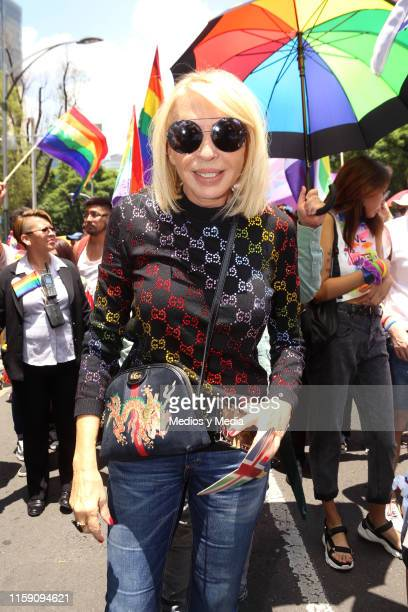 Laura Bozzo poses for photos during the 41 LGBTTTI Pride Parade and concert on June 29 2019 in Mexico City Mexico