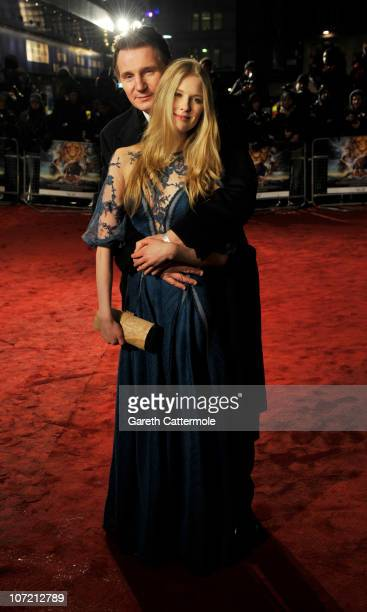 Laura Brent and Liam Neeson attend the Royal Film Performance and World Premiere of 'The Chronicles Of Narnia The Voyage Of The Dawn Treader' at...