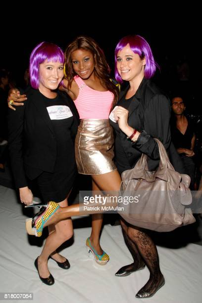 Laura Briner Nyasha Zimucha and Molly Leibowitz attend Richie Rich 2011 Fashion Show at The Studio at Lincoln Center on September 9 2010 in New York...