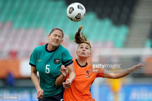 Laura Brock of Australia, Lieke Martens of Holland during the international women's friendly match between the Netherlands and Australia at the...
