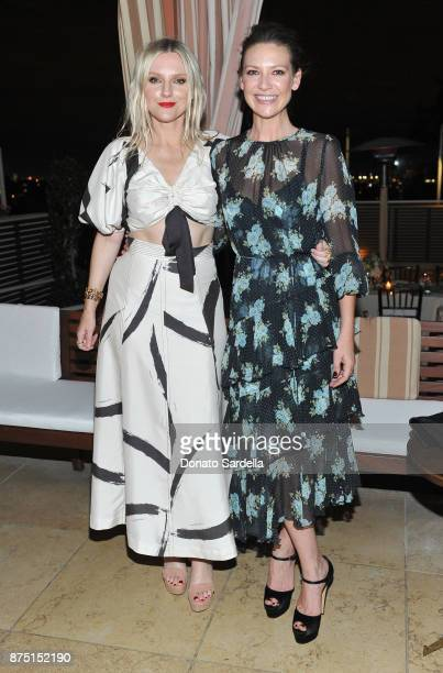 Laura Brown and Anna Torv at Zimmermann Los Angeles Dinner at Sunset Tower on November 16 2017 in West Hollywood California