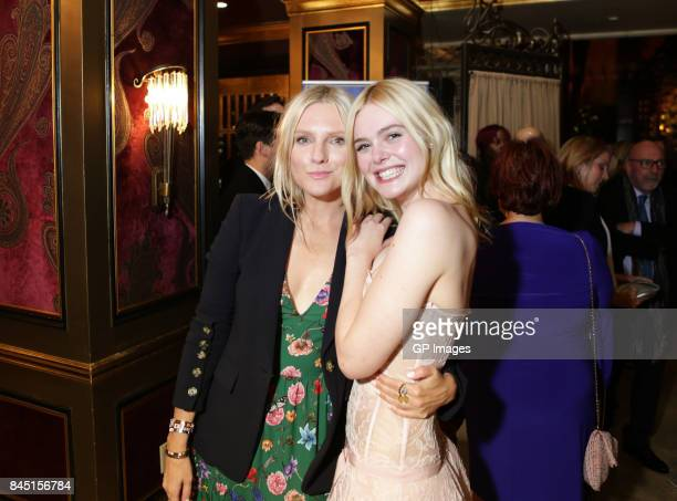 Laura Brown and Elle Fanning attend The Hollywood Foreign Press Association and InStyle's annual celebrations of the 2017 Toronto International Film...