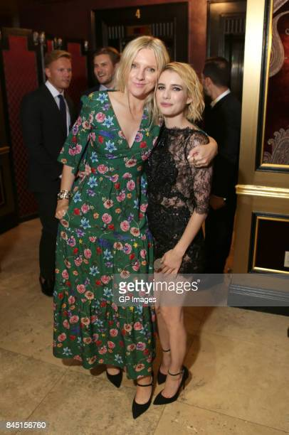 Laura Brown and Emma Roberts attend The Hollywood Foreign Press Association and InStyle's annual celebrations of the 2017 Toronto International Film...