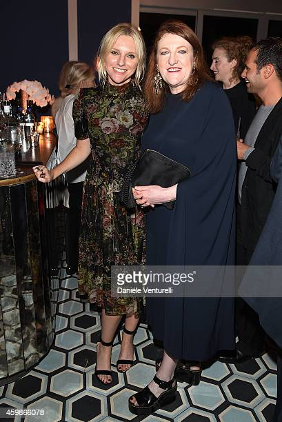 Laura Brown and Glenda Bailey at the BAZAAR@ Art Basel Miami Beach artist dinner hosted by Harper's BAZAAR's Glenda Bailey and VINCE for Rachel...
