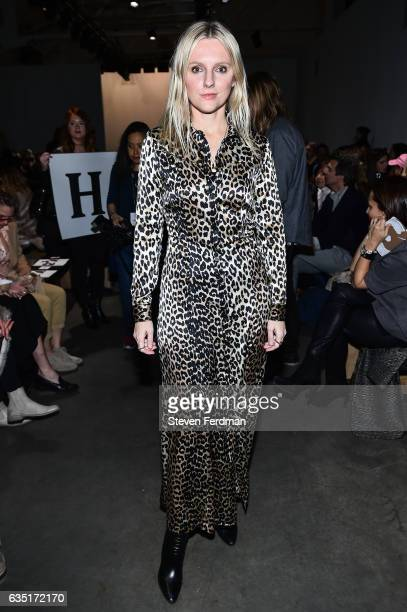 Laura Brown attends front row of Zero Maria Cornejo runway show during New York Fashion Week at Pier 59 on February 13 2017 in New York City