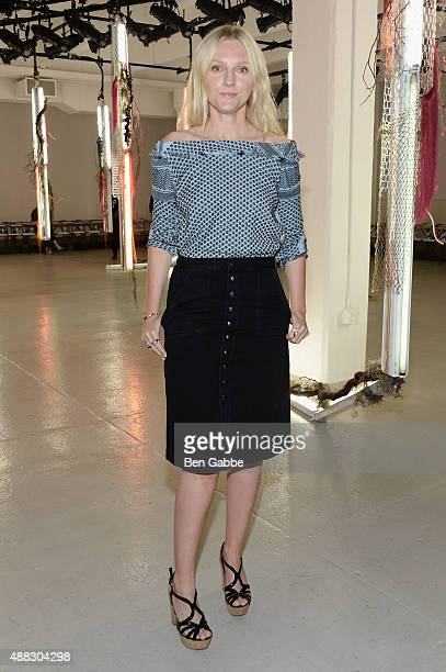 Laura Brown attends Rodarte Spring 2016 during New York Fashion Week at Center 548 on September 15 2015 in New York City