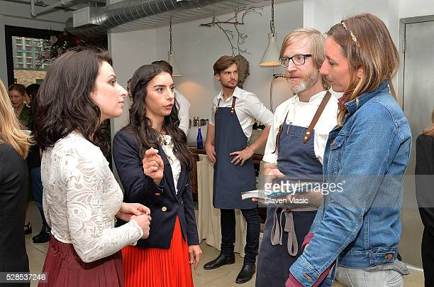 Laura Brown Lena Braun Daniel Burns and Annie Novak attend the Floral Salon celebration by Garden Collage and Phaidon on May 4 2016 in New York City