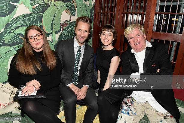Laura Burton Robbie Gordy Kelsey Garrett and Peter Tunney attend The Andy Warhol Museum's Annual NYC Dinner at Indochine on November 12 2018 in New...