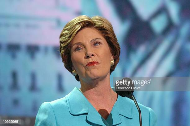 Laura Bush during 2004 Republican National Convention Day 2 Inside at Madison Square Garden in New York City New York United States
