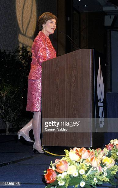 Laura Bush during United Negro Fund's 58th Anniversary Dinner at Sheraton NY Hotel in New York City New York United States