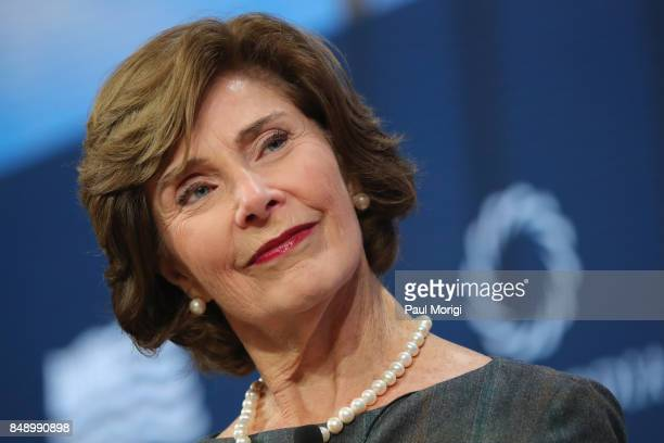 Laura Bush Former First Lady United States of America speaks at The 2017 Concordia Annual Summit at Grand Hyatt New York on September 18 2017 in New...