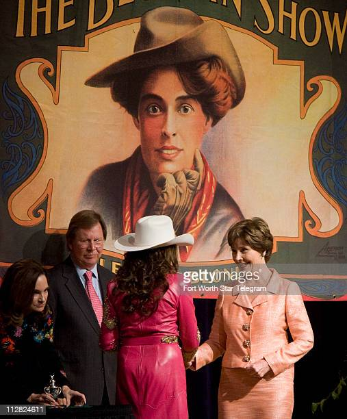 Laura Bush received the Gloria Lupton Tennison Pioneer Award at the 34th annual National Cowgirl Museum and Hall of Fame's Induction Luncheon and...