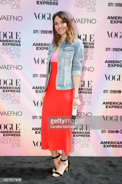 Laura Byrne during Vogue American Express Fashion's Night Out on September 6 2018 in Sydney Australia