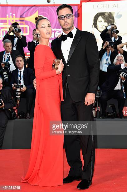 Laura Calvo and Lorenzo Tonetti attend the Opening Ceremony and 'Birdman' premiere during the 71st Venice Film Festival on August 27 2014 in Venice...