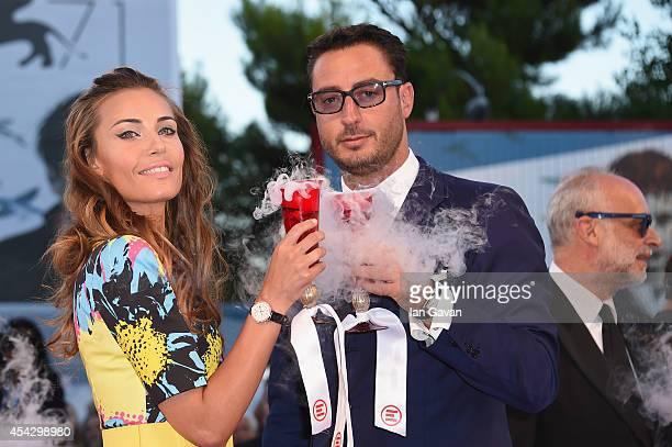 Laura Calvo and Lorenzo Tonetti wear JaegerLeCoultre watches at the 'La Rancon de la gloire' Premiere during the 71st Venice Film Festival at the...