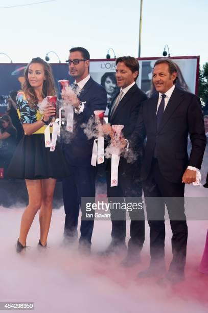 Laura Calvo Lorenzo Tonetti Alessio Vinciand and Filippo La Mantia wear JaegerLeCoultre watches at the 'La Rancon de la gloire' Premiere during the...