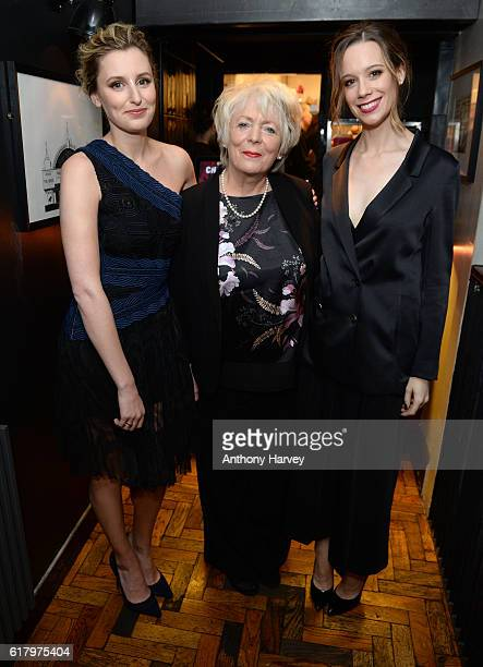 Laura Carmichael Alison Steadman and Chloe Pirrie attend the photocall for the 'Burn Burn Burn' gala screening at Screen on the Green on October 25...