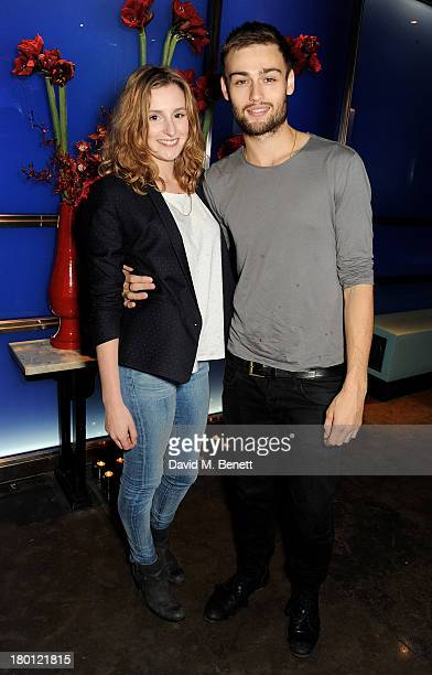 Laura Carmichael and Douglas Booth attend the launch of 'Dim Sum Sundays' by Hakkasan at Hakkasan Hanway Place on September 8 2013 in London England