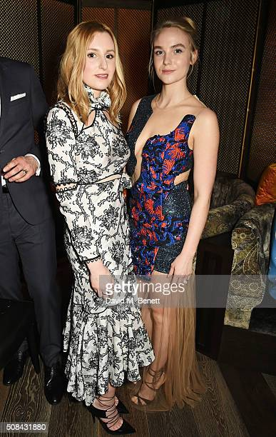 Laura Carmichael and Joanna Vanderham attend the InStyle EE Rising Star party ahead of the EE BAFTA Awards at 100 Wardour St on February 4 2016 in...