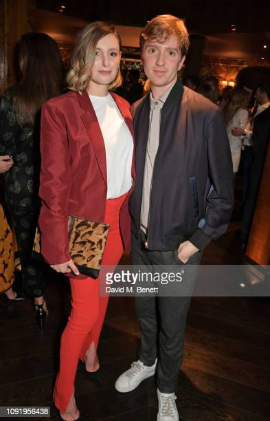 Laura Carmichael and Luke Newberry attend the Vanity Fair EE Rising Star Party ahead of the 2019 EE BAFTAs at The Baptist L'Oscar Hotel on January 31...