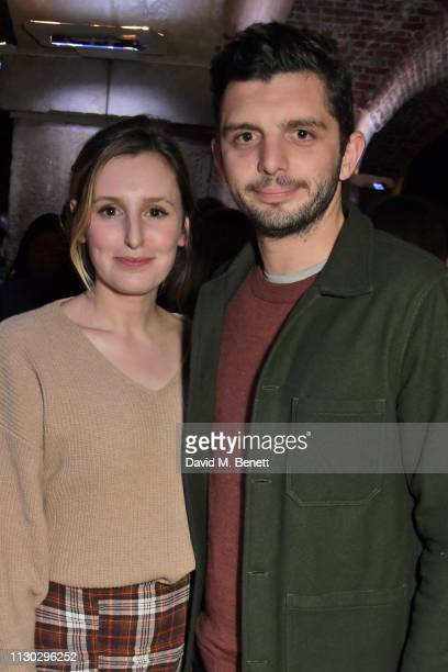 Laura Carmichael and Michael C Fox attend the press night after party for Betrayal at The Cafe In The Crypt St MartinintheFields on March 13 2019 in...
