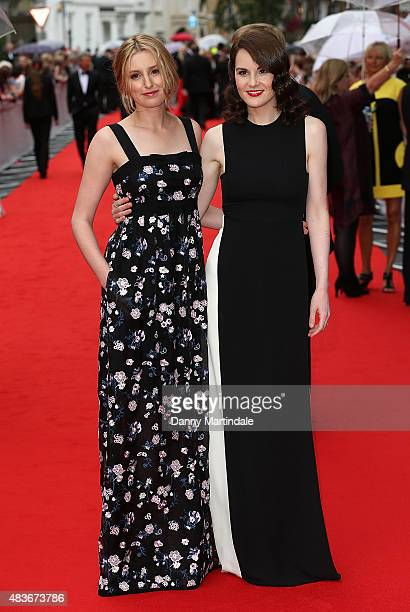 Laura Carmichael and Michelle Dockery attends as BAFTA celebrate Downton Abbey at Richmond Theatre on August 11 2015 in Richmond England