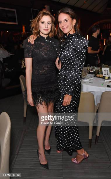 Laura Carmichael and President of NETAPORTER and MR PORTER Alison Loehnis attend the launch of the MR PORTER charitable fund The MR PORTER Health In...