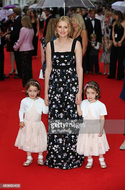 Laura Carmichael and the actresses who play her onscreen daughter Marigold attend as BAFTA celebrate 'Downton Abbey' at Richmond Theatre on August 11...