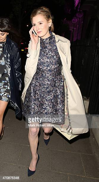 Laura Carmichael attending a Jo Malone party at the Jo Malone HQ on April 23 2015 in London England