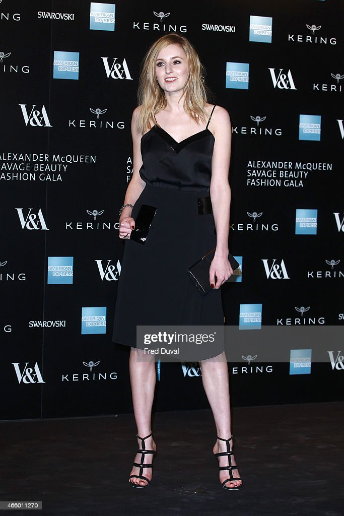 Laura Carmichael attends a private view for the 'Alexander McQueen: Savage Beauty' exhibition at Victoria & Albert Museum on March 12, 2015 in London, England.