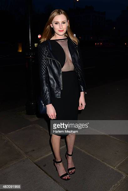 Laura Carmichael attends a VIP private view of 'The Glamour of Italian Fashion 19452014' at the Victoria Albert Museum on April 2 2014 in London...