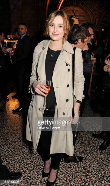 Laura Carmichael attends an after party following the press night performance of 'The Book of Mormon' at the Natural History Museum on March 21 2013...