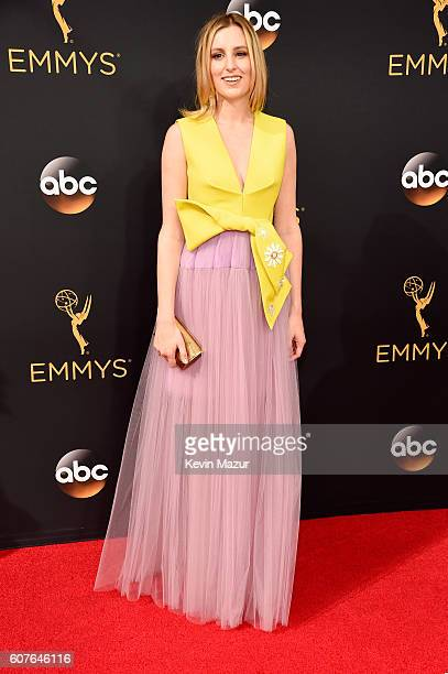 Laura Carmichael attends the 68th Annual Primetime Emmy Awards at Microsoft Theater on September 18, 2016 in Los Angeles, California.