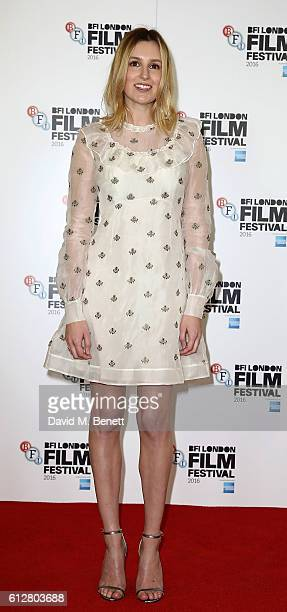 Laura Carmichael attends the 'A United Kingdom' photocall during the 60th BFI London Film Festival at The Mayfair Hotel on October 5 2016 in London...