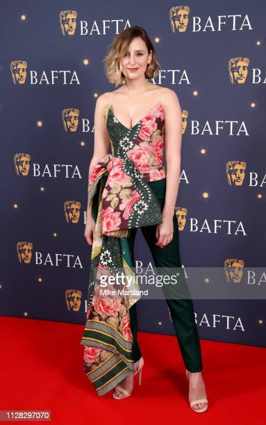 Laura Carmichael attends the BAFTA Film Gala at the The Savoy Hotel ahead of the EE British Academy Film Awards this Sunday on February 08 2019 in...