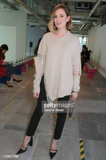 Laura Carmichael attends the Christopher Kane show during London Fashion Week February 2019 on February 18 2019 in London England